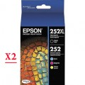 Epson 252XL - T252XL (T252XL120 - T252420) ink Cartridges - 8 Pack