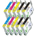 Epson T1261- T1264 (T126120, T126220, T126320, T126420) 10-Pack Epson CompatiblePremium ink Cartridges
