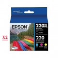 Epson 220XL - T220XL (T220XL120 - T220420) ink Cartridges - 8 Pack