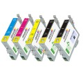Epson T1261- T1264 (T126120, T126220, T126320, T126420) 5-Pack Epson Compatible Premium ink Cartridges